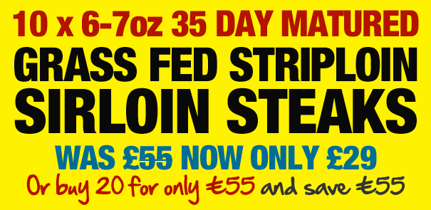 Matured Striploin Sirloin Steaks