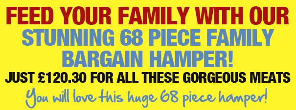 Stunning 68 Piece Family Bargain Hamper!