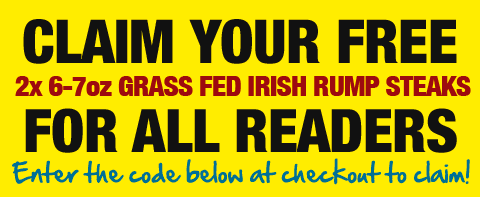 Claim your Grass Fed Irish Rump Steaks