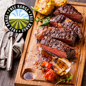 4 x 6-7oz Matured Free Range New York Strips