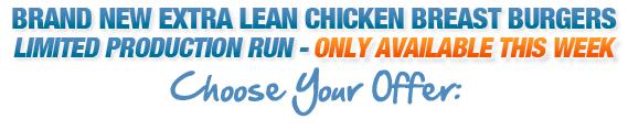 Extra Lean Chicken Burgers