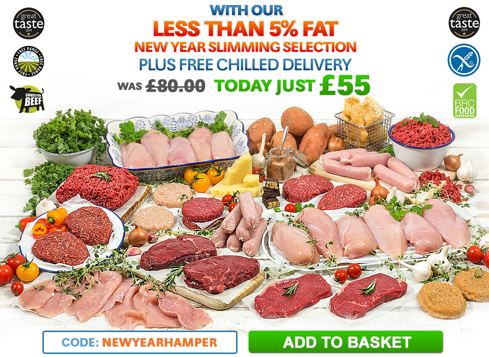 With Our Less Than 5% Fat New Year Slimming Selection