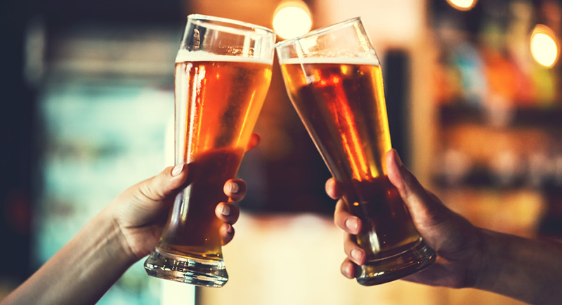 Exercise is protective of health, whereas drinking is damaging.