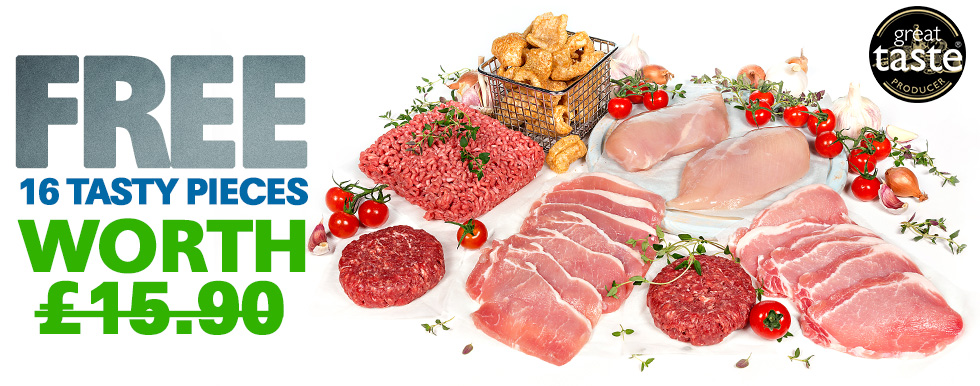 16 Piece Lean Meat Hamper FREE