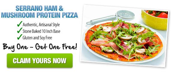Serrano Ham & Mushroom Protein Pizza