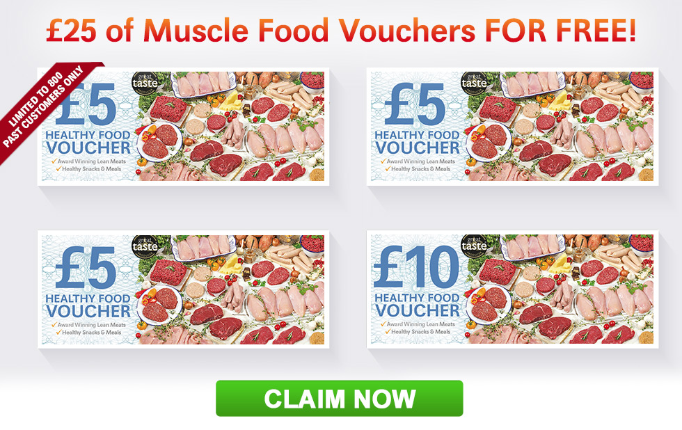 25 pound worth of Muscle Food Vouchers For Free