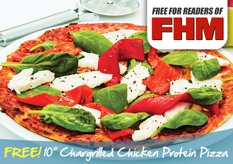 Claim your FREE 10 Inch Chargrilled Chicken Protein Pizza