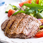 2 x 5-6oz British Peppered Rump Steaks