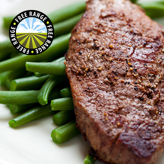 2 x 170g Free Range Pure Rump Steaks