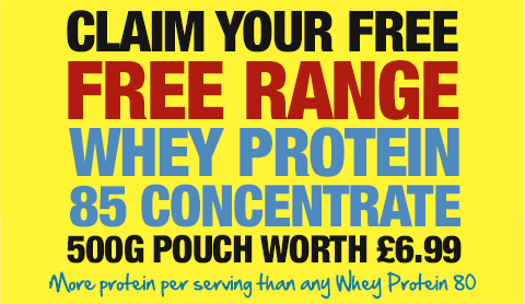 Claim your FREE Free Range Whey Concentrate 85
