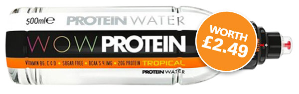 Free WOW Protein Water with every hamper