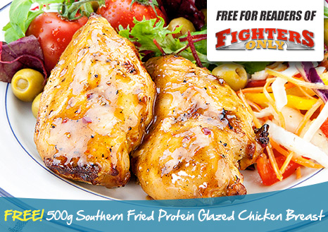 Claim your FREE 1kg Southern Fried Protein Glazed Chicken Breast