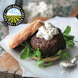 10 x 4oz Free Range Steak Burgers
