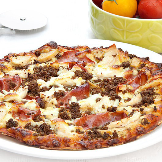 "10"" Balanced Mighty Meat Protein Pizza"