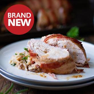 Sage, Onion & Bacon Stuffed Turkey Parcels-200g