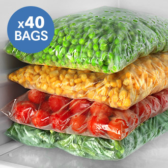 "40 Freezer Bags (7"" x 9"") - Just 6p Per Bag!"