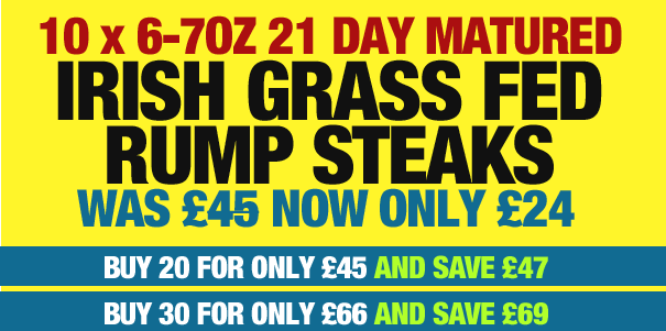 Matured 6-7oz Rump Steaks Offer: