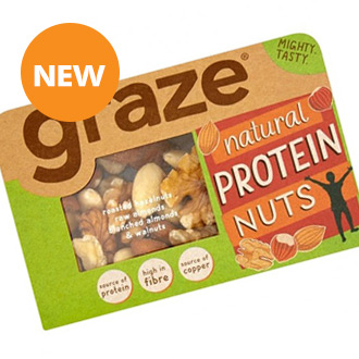 Graze Natural Protein Nuts - Exp 24.9.18 ****