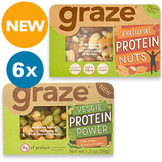 Graze Veggie Protein Mixture - 6 Pack