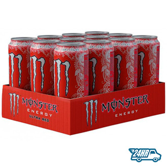 Monster Zero Calorie Ultra Red - 12 x 500ml