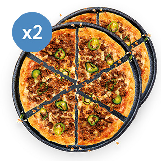2 x Spicy Beef High Protein Pizza - 350g