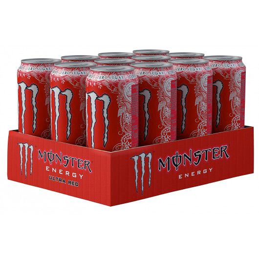 Monster Energy Ultra Red - 12 x 500ml