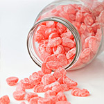 Sugar Free Strawberry Sweeties - 4 x 75g