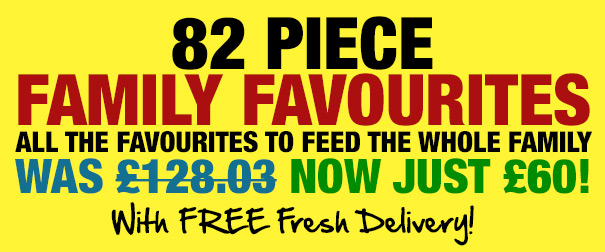 82 Piece Family Favourites Selection Now Just £60