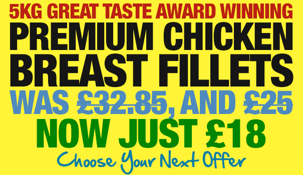 5kg Great Taste Award Winning Chicken Breast Fillets