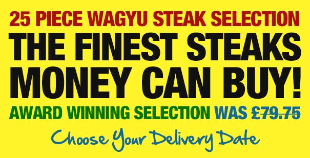 25 Piece Wagyu Steak Selection: