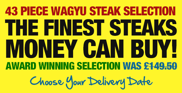 43 Piece Wagyu Steak Selection: