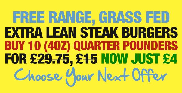 Grass Fed Steak Burgers