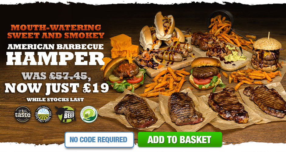 Mouth Watering Sweet and Smokey American Barbeque Hamper. Just £19 While Stocks Last