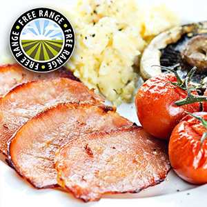 Low Fat Back Bacon Medallions - 14 x 25g
