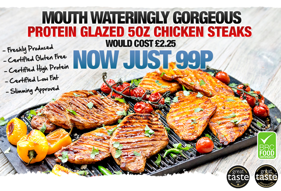 Chicken Steaks - Just 99p