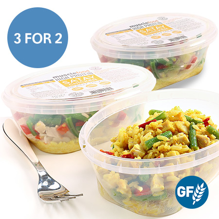 3 x 351 Kcal NEW Satay Chicken Rice Pot - 3 For 2