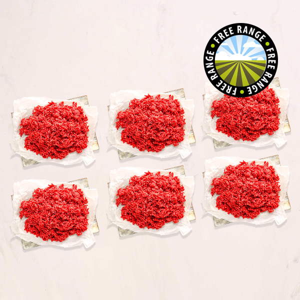 6 x 200g Free Range Extra Lean Steak Mince