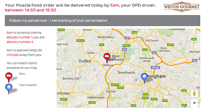 DPD tracking on Google Maps