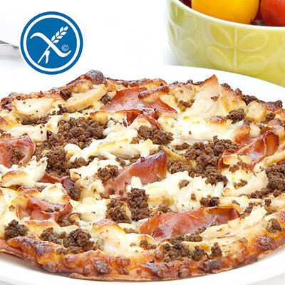 """658 Calorie Mighty Meat 10"""" Pizza"""