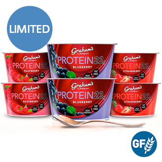 6 x 190g Protein 22 Yoghurt Multipack - Fat Free