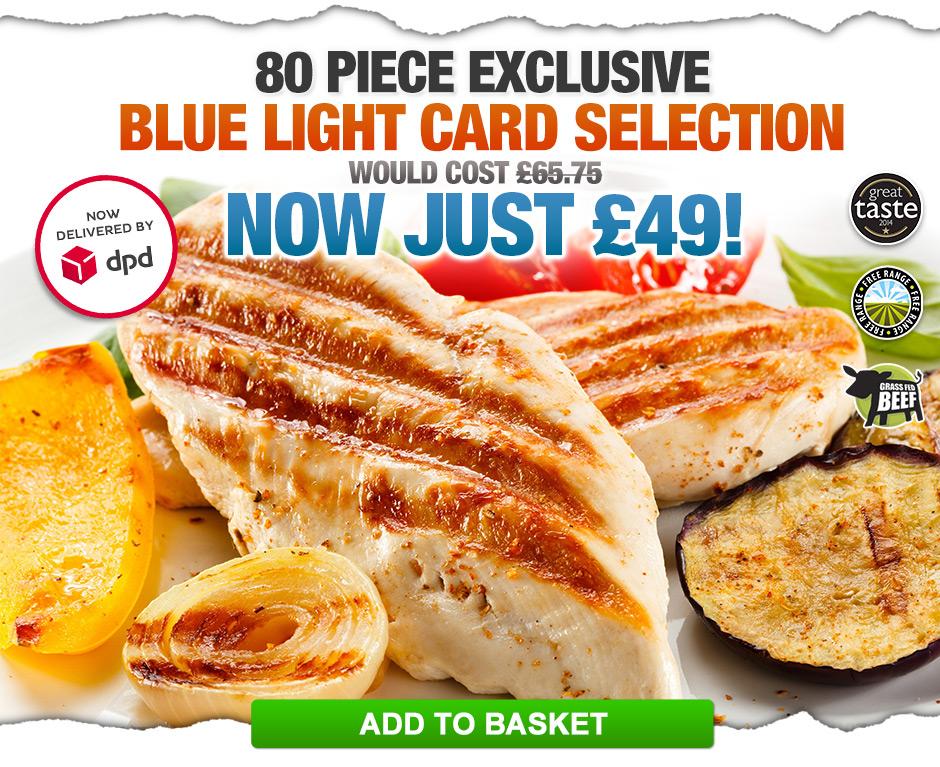 Blue Light Card Selection Offer
