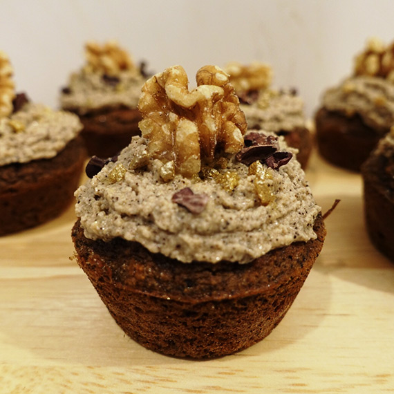 Protein Coffee and Walnut Cupcakes