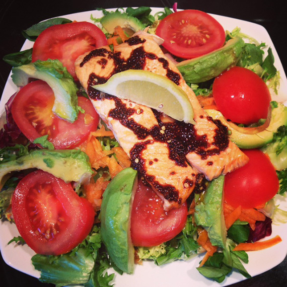 Salmon With Chia Dressing