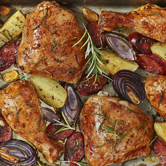 Simple Harissa Chicken Traybake