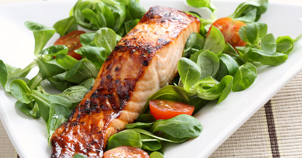 Grilled salmon glazed in maple syrup recipe for What is the best fish to eat