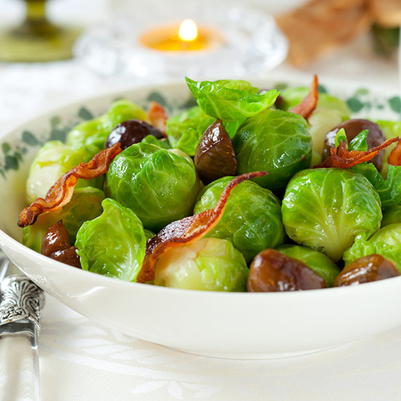 Stunning Sprouts with Bacon