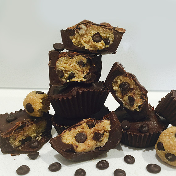 Protein Chocolate Cookie Dough Cups