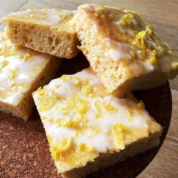 Lemon Drizzle Cake Squares