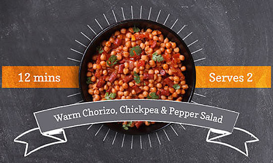 Warm Chorizo, Chickpea & Pepper Salad