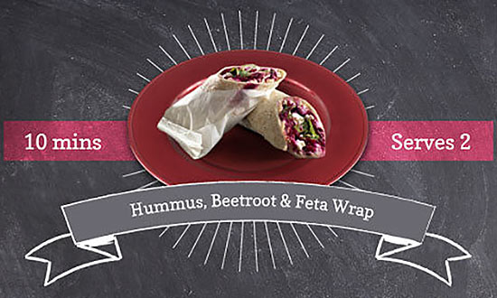 Hummus, Beetroot & Feta Wrap